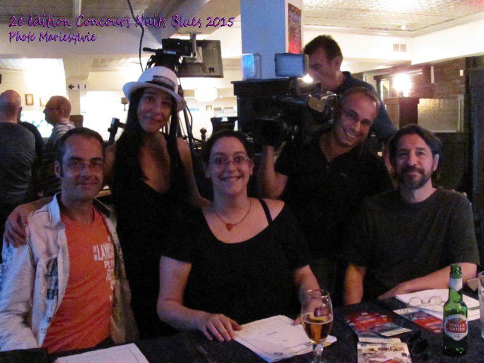 Les Membres du Jury 10 Juin Samuel Bouchard, Brigitte Faucher et Michel Boivin avec Nathalie Ruscito et Marc Champage MC5